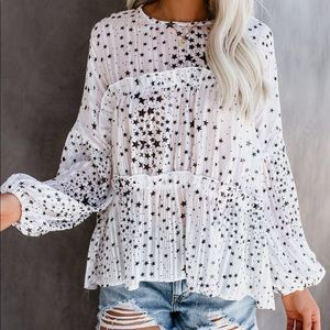 NWT Vici Collection 'Guard My Galaxy' Blouse